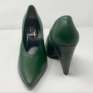 Robert Clergerie Dark Green Heels